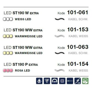 LED ST 190 WW   Kabelfarbe: weiß   Lichterkette --> Led Pro 230V